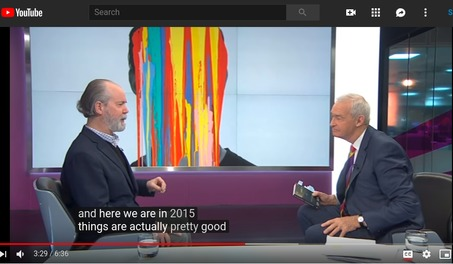 Douglas Coupland being interviewed by Channel 4